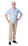 Mature man isolated. Happy mature man portrait isolated on white background stock images