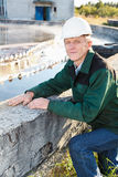 Mature man manual worker royalty free stock photography