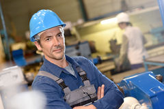 Mature man metal worker in metallurgic industry Royalty Free Stock Photography