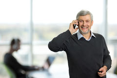 Mature man on office background. Royalty Free Stock Image