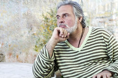 Mature man outdoors Stock Photos