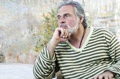 Mature man outdoors Stock Photos