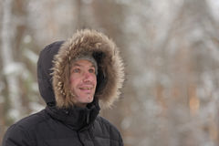 Mature man outdoors in winter Stock Image