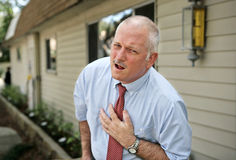 Mature Man in Pain stock photography
