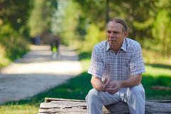 Mature man in park royalty free stock image