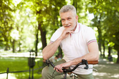 Mature man in the park Stock Photo