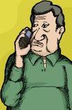Mature Man on Phone Royalty Free Stock Photo