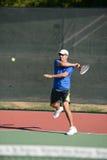 Mature Man Playing Tennis Royalty Free Stock Photography