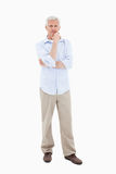 Mature man posing Stock Image