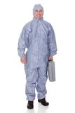 Mature Man With Protective Wear Royalty Free Stock Photos