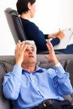 Mature man psychologist Royalty Free Stock Photo
