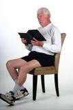 MAture man reading Stock Photos