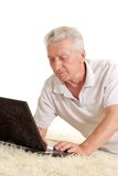 Mature man relaxing Royalty Free Stock Image