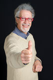 Mature man smiling Stock Image