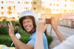 Mature man smiling at camera. Stock Image
