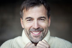 Mature Man Smiling Royalty Free Stock Images