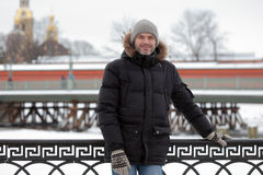 Mature man in St. Petersburg, Russia Royalty Free Stock Image