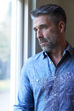 Mature Man Suffering From Depression Looking Out Of Window. Man Suffering From Depression Looking Out Of Window royalty free stock photography