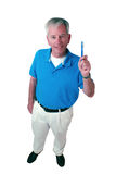 Mature man with toothbrush Royalty Free Stock Photography
