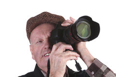 Mature Man Using Camera Royalty Free Stock Images