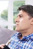 Mature Man Using Vapourizer As Smoking Alternative Stock Image