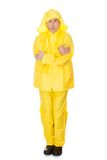 Mature Man Wearing Raincoat Royalty Free Stock Image