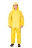 Mature Man Wearing Raincoat Stock Photos