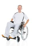 Mature man wheelchair Royalty Free Stock Photography