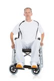 Mature man wheelchair Royalty Free Stock Image