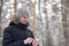 Man with smartphone Stock Photos