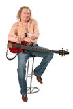 Mature Man With Guitar Stock Photo