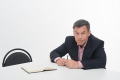 Mature manager at desk Royalty Free Stock Photography