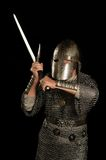 Mature Medieval knight Royalty Free Stock Photo
