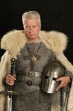 Mature Medieval knight Stock Photos