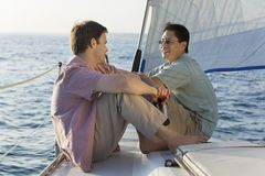 Mature Men Having A Friendly Chat Royalty Free Stock Photography