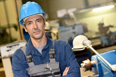 Mature metal worker in metallurgic industry Stock Images