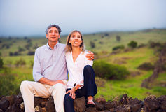 Mature middle age couple in love Stock Image
