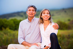 Mature middle age couple in love Royalty Free Stock Photos