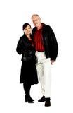 Mature mixed senior couple Royalty Free Stock Image