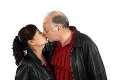 Mature mixed senior couple Stock Images