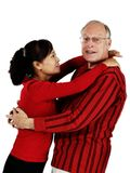 Mature mixed senior couple Stock Image