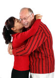 Mature mixed senior couple Stock Photo