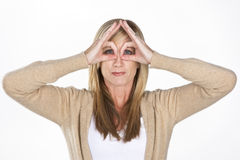 Mature Model Making Faces Stock Image