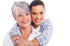 Mature mother adult duaghter Stock Photography