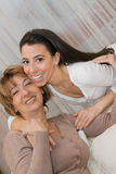 Mature  Mother and beautiful daughter Royalty Free Stock Image