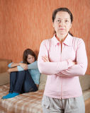 Mature mother and  daughter having quarrel Royalty Free Stock Photo