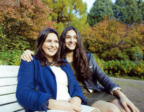 Mature mother with daughter outside Stock Images