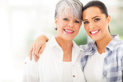 Mature mother daughter Stock Photo