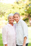 Mature mother with her daughter Stock Images