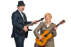 Mature musicians band Stock Photo